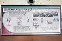 """An educational display at Hoover Dam's information center entitled """"From Hoover to Home"""" shows the process of hydroelectric power   distribution. The dam's hydroelectric power station generates, on average, about 4 billion kilowatt-hours of power a year and is distributed to Nevada, Arizona, and California. It meets the energy needs of approximately 1.3 million people."""