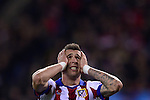 Mario Manduzick during the UEFA Champions League semifinal first leg football match Club Atletico de Madrid vs Olympiacos at the Vicente Calderon stadium in Madrid on November 26, 2014.   PHOTOCALL3000/ DP