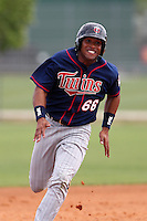 Minnesota Twins Rosario Rodriguez #66 during a minor league spring training intrasquad game at the Lee County Sports Complex on March 25, 2012 in Fort Myers, Florida.  (Mike Janes/Four Seam Images)