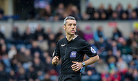 Referee Sebastian Stockbridge during the Sky Bet League 2 match between Wycombe Wanderers and Luton Town at Adams Park, High Wycombe, England on 6 February 2016. Photo by Andy Rowland.