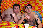 STEVE O AND PRESTON LACY AT THE VIRGIN MEGA STORE LONDON DOING A SIGNING
