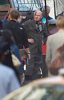 Glasgow, Scotland - Zombies on set as filming takes place in  George Square of film World War Z..Picture: Maurice McDonald/Universal News And Sport (Scotland). 25 August 2011. www.unpixs.com..