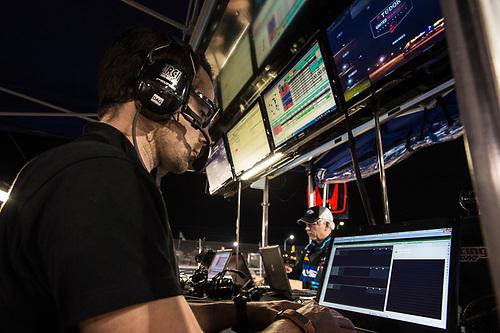 19-21 March, 2015, Sebring, Florida, USA<br /> 60, Honda HPD, Ligier JS P2, P, John Pew, Oswaldo Negri, Jr., Justin Wilson engineers and crew at night<br /> ©2015 Scott R LePage <br /> LAT Photo USA
