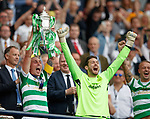 19.05.2018 Scottish Cup Final Celtic v Motherwell: Scott Brown lifts the cup
