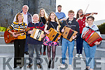 Listowel musicians attending the Seanchai Centre for President Higgins visit to Listowel on Friday evening. Front l to r: Anita Murphy, Paddy Browne, Ruby Falvey, Nelius Mackessy and Lilly Hillard.<br /> Back l to r: John McElligott, Aideen Quinlan, Timmy Flaherty and Hannah O'Shea.