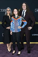 "LOS ANGELES - NOV 14:  Wierd Al Yankovic, wife, daughter at the ""Knives Out"" Premiere at Village Theater on November 14, 2019 in Westwood, CA"