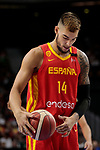 Willy Hernangomez of Spain during the Friendly match between Spain and Dominican Republic at WiZink Center in Madrid, Spain. August 22, 2019. (ALTERPHOTOS/A. Perez Meca)
