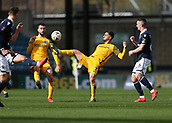 17th March 2019, The Den, London, England; The Emirates FA Cup, quarter final, Millwall versus Brighton and Hove Albion; Beram Kayal of Brighton & Hove Albion being marked by Shaun Williams of Millwall