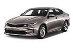 2018 KIA Optima LX 4 Door Sedan Angular Front automotive stock photos of front three quarter view