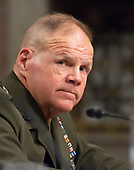 "United States Marine Corps General Robert B. Neller, Commandant of the US Marine Corps, testifies before the US Senate Committee on Armed Services ""on the posture of the Department of the Navy in review of the Defense Authorization Request for Fiscal Year 2019 and the Future Years Defense Program"" on Thursday, April 19, 2018.<br /> Credit: Ron Sachs / CNP"