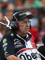 Jul 23, 2016; Morrison, CO, USA; NHRA funny car team owner Jim Dunn during qualifying for the Mile High Nationals at Bandimere Speedway. Mandatory Credit: Mark J. Rebilas-USA TODAY Sports