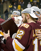 Jack Connolly (Duluth - 12) - The University of Minnesota-Duluth Bulldogs celebrated their 2011 D1 National Championship win on Saturday, April 9, 2011, at the Xcel Energy Center in St. Paul, Minnesota.