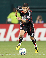 Pablo Hernandez #21 of D.C. United during an MLS match against the San Jose Earthquakes at RFK Stadium in Washington D.C. on October 9 2010. San Jose won 2-0.