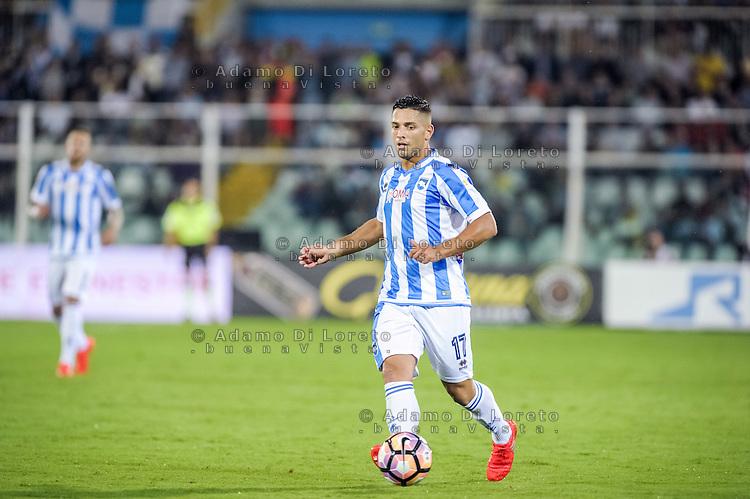 Gianluca Caprari (Pescara) during the Italian Serie A football match Pescara vs SSC Inter on September 11, 2016, in Pescara, Italy. Photo by Adamo DI LORETO