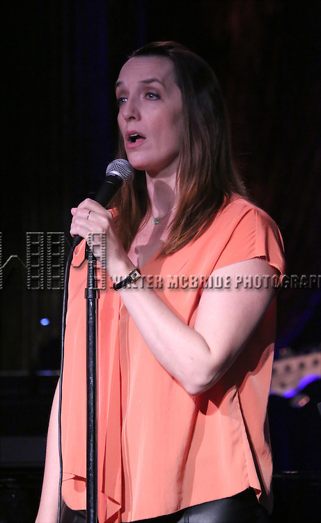 Julia Murney performing at The Lilly Awards Broadway Cabaret at the Cutting Room on October 17, 2016 in New York City.
