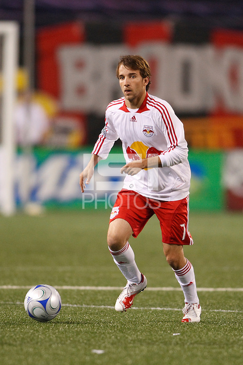 New York Red Bulls forward Mike Magee (7). The New York Red Bulls and the New England Revolution played to a 1-1 tie during a Major League Soccer match at Giants Stadium in East Rutherford, NJ, on April 19, 2008.