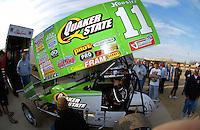 .Steve Kinser in his pit......ref: Digital Image Only