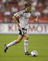Germany midfielder (18) Kerstin Garefrekes. Germany (GER) defeated Argentina (ARG) 11-0 during an opening round Group A match of the FIFA Women's World Cup China 2007 at Shanghai Kongkou Football Stadium, Shanghai, China, on September 10, 2007.