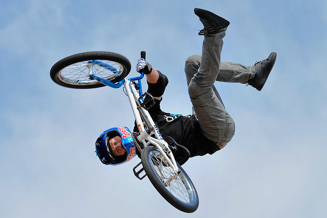 19 August, 2012:  Chad Kagy competes on the BMX Mega 2.0 ramp at the Pantech Beach Championships in Ocean City, Md.  Chad finished in second in the event