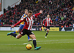 Billy Sharp of Sheffield Utd scores his goal during the English League One match at the Bramall Lane Stadium, Sheffield. Picture date: November 19th, 2016. Pic Simon Bellis/Sportimage