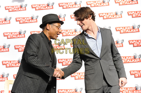 LONDON, ENGLAND - FEBRUARY 21: Giancarlo Esposito and RJ Mitte attending 'Walker Stalker Con 2015' at Olympia in London on February 21, 2016 in London, England.<br /> CAP/MAR<br /> &copy; Martin Harris/Capital Pictures