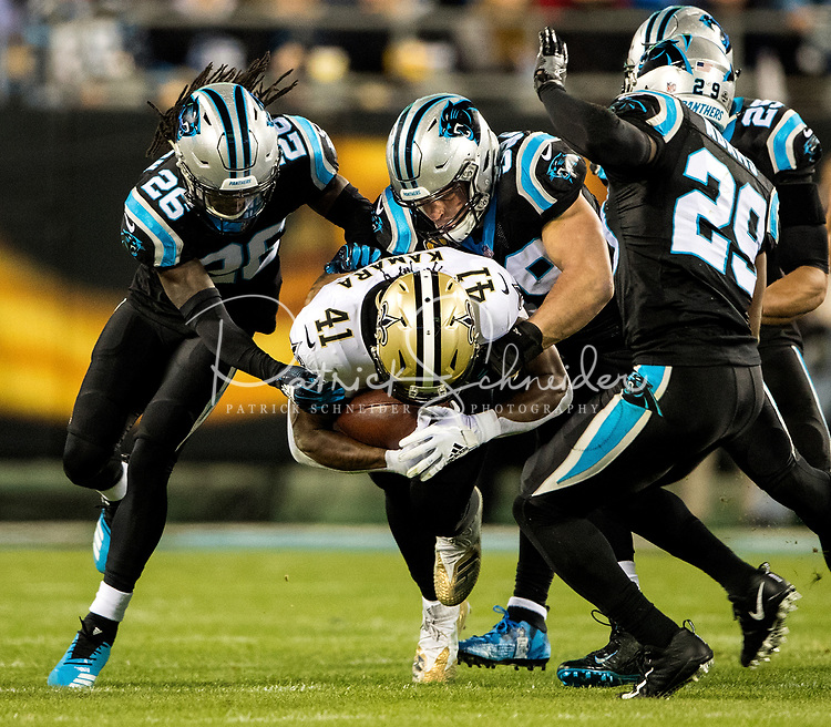 Photography of the Carolina Panthers v. The New Orleans Saints at Bank of America Stadium in Charlotte, North Carolina.<br /> <br /> Charlotte Photographer - PatrickSchneiderPhoto.com