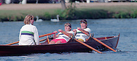 Henley, GREAT BRITAIN,  Women's Skiff  coxed Double sculls. 1995 National Skiff Rowing Championships, Henley Reach Henley on Thames. Berkshire [Mandatory Credit, Peter Spurrier/Intersport-images
