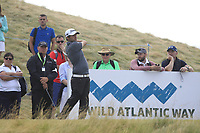Neil O'Briain (IRL) on the 8th tee during Round 2 of the Dubai Duty Free Irish Open at Ballyliffin Golf Club, Donegal on Friday 6th July 2018.<br /> Picture:  Thos Caffrey / Golffile
