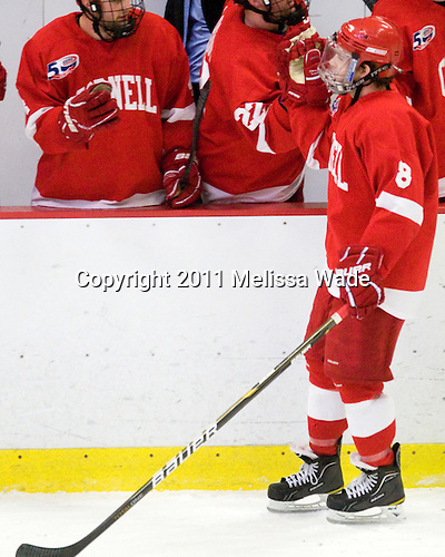Locke Jillson (Cornell - 8) scored the gamewinner late in the second period. - The visiting Cornell University Big Red defeated the Harvard University Crimson 2-1 on Saturday, January 29, 2011, at Bright Hockey Center in Cambridge, Massachusetts.