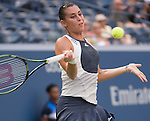 Flavia Panetta (ITA) defeats Petra Kvitova (CZE) 6-4, 4-6, 6-2 at the US Open in Flushing, NY on September 9, 2015.