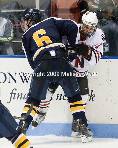 Trent Bonnett (Bentley - 6), ? - The Northeastern University Huskies defeated the Bentley University Falcons 3-2 on Friday, October 16, 2009, at Matthews Arena in Boston, Massachusetts.