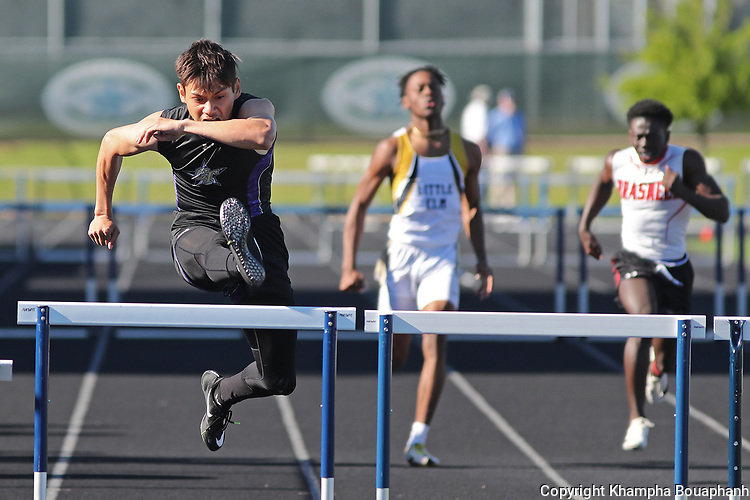 Boswell, Saginaw, and Chisholm Trail compete in 5A area track meet at Keller ISD Stadium on Thursday, April 18, 2019. (Photo by Khampha Bouaphanh)