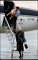 BNPS.co.uk (01202 558833)Pic: QueensFlightArchives1981 - Princess Anne and her dog arriving in Balmoral.<br /> <br /> A new book gives an intimate look behind the scenes of the Royal Flight and also the flying Royals.<br /> <br /> Starting in 1917 the book charts in pictures the 100 year evolution of first the King's Flight and then later the Queen's Flight as well as the Royal families passion for aviation.<br /> <br /> Author Keith Wilson has had unprecedented access to the Queen's Flight Archives to provide a fascinating insight into both Royal and aeronautical history.