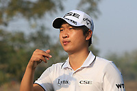Jeunghun Wang (KOR) in action on the 12th during Round 2 of the Hero Indian Open at the DLF Golf and Country Club on Friday 9th March 2018.<br /> Picture:  Thos Caffrey / www.golffile.ie<br /> <br /> All photo usage must carry mandatory copyright credit (&copy; Golffile | Thos Caffrey)