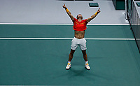 Rafael Nadal of Spain celebrates victory <br /> La Caja Magica in Madrid, Spain.<br /> Tennis Davis Cup 2019 <br /> Coppa Davis FINALE<br /> Foto Alterphotos / Insidefoto <br /> ITALY ONLY