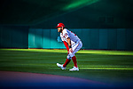 7 October 2017: Washington Nationals outfielder Bryce Harper warms up prior to the second game of the NLDS against the Chicago Cubs at Nationals Park in Washington, DC. The Nationals rallied to defeat the Cubs 6-3 and even their best of five Postseason series at one game apiece. Mandatory Credit: Ed Wolfstein Photo *** RAW (NEF) Image File Available ***