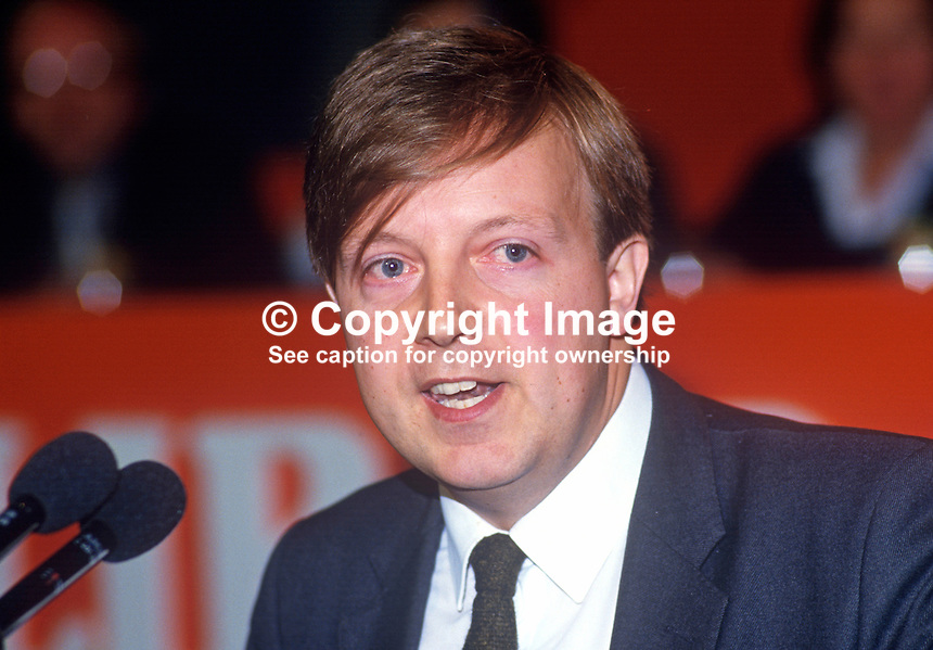 David Grace, Liberal Party, UK, PPC, 19860912DG<br />