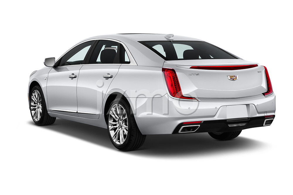 Car pictures of rear three quarter view of a 2018 Cadillac XTS Luxury 4 Door Sedan angular rear