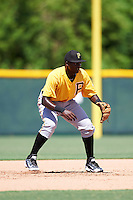 Pittsburgh Pirates second baseman Cristopher Perez (99) takes ground balls on a side field during an Instructional League Intrasquad Black & Gold game on September 21, 2016 at Pirate City in Bradenton, Florida.  (Mike Janes/Four Seam Images)