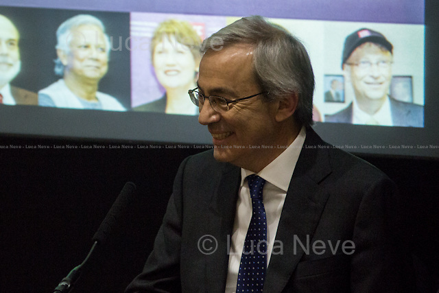 Professor Christopher Pissarides.<br /> <br /> London, 12/12/2013. Today, LSE (London School of Economics) presented the Regius Professorship inaugural lecture called &quot;Is Europe Working?&quot;, hosted by Professor Christopher Pissarides (Cypriot/British economist; Regius Professor in Economics at LSE; Nobel Prize winner in Economic Sciences for his work with Peter Diamond and Dale Mortensen on the analysis of markets with search frictions and macroeconomics, 2010). Chair of the event was Professor Stuart Corbridge (Professor of International Development; Pro-Director of LSE).<br /> <br /> Here there is the link to the podcast to listen the lecture: http://bit.ly/18IvxvF