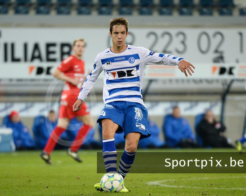 AA Gent - KV Kortrijk : David Hubert<br /> foto VDB / Bart Vandenbroucke