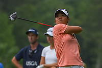Danielle Kang (USA) watches her tee shot on 10 during round 1 of the U.S. Women's Open Championship, Shoal Creek Country Club, at Birmingham, Alabama, USA. 5/31/2018.<br /> Picture: Golffile   Ken Murray<br /> <br /> All photo usage must carry mandatory copyright credit (© Golffile   Ken Murray)