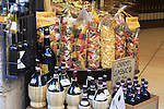 Local produce on sale in San Gimignano start point of the 2015 Strade Bianche Eroica Pro cycle race running 200km over the white gravel roads from San Gimignano to Siena, Tuscany, Italy. 6th March 2015<br /> Photo: Eoin Clarke www.newsfile.ie