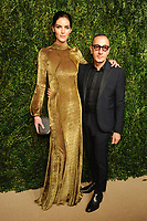 NEW YORK, NY - NOVEMBER 6: Hilary Rhoda and Gilles Mendel at the 14th Annual CFDA Vogue Fashion Fund Gala at Weylin in Brooklyn, New York City on November 6, 2017. <br /> CAP/MPI/JP<br /> &copy;JP/MPI/Capital Pictures
