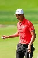 Haotong Li (CHN) on the 8th green during the 2nd round of the WGC HSBC Champions, Sheshan Golf Club, Shanghai, China. 01/11/2019.<br /> Picture Fran Caffrey / Golffile.ie<br /> <br /> All photo usage must carry mandatory copyright credit (© Golffile   Fran Caffrey)