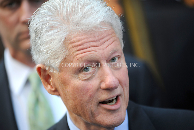 WWW.ACEPIXS.COM . . . . . .September 20, 2010, New York City.... Bill Clinton leaving the Late Show with David Letterman on September 20, 2010 in New York City....Please byline: KRISTIN CALLAHAN - ACEPIXS.COM.. . . . . . ..Ace Pictures, Inc: ..tel: (212) 243 8787 or (646) 769 0430..e-mail: info@acepixs.com..web: http://www.acepixs.com .