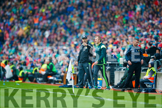 Kerry Manager Eamonn Fitzmaurice at the All Ireland Semi Final against  Mayo in Croke Park on Sunday.