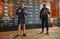 Mark Heffron (L) and Denzel Bentley during a Press Conference at the Town Hall & Apartments, Bethnal Green on 9th September 2020