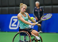 Rotterdam,Netherlands, December 17, 2015,  Topsport Centrum, Lotto NK Tennis, Wheelchair Tennis, Diede de Groot (NED)<br /> Photo: Tennisimages/Henk Koster