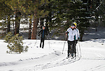 Cross country skiers explore at Spooner Lake State Park near Incline Village, Nev., on Monday, Jan. 25, 2016. <br /> Photo by Cathleen Allison